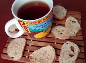 Сухарики к чаю - рецепт -Дубровина Елена - рубрика Веселый Печеник